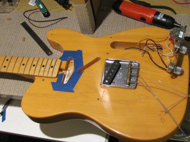 Guitar Wiring Repair : austin guitar repair fender telecaster pickup swap body route pick guard file kill switch ~ Russianpoet.info Haus und Dekorationen
